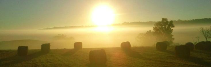 hay bale sunrise header